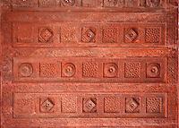 Fatehpur Sikri, Uttar Pradesh, India.  Ceiling Decoration in the Diwan-i-Khas (Hall of Private Audience) of Emperor Jalal el-Din Akbar.