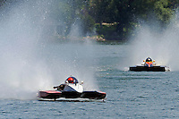 "13-14 June, 2009, APBA Inboards, Walled Lake, Novi, MI. USA.Tom Thompson, A-52 ""Fat Chance IV"", 2.5 Mod hydroplane, Dan Kanfoush, A-600 ""Mr.Bud"", 2.5 Mod hydroplane.©F. Peirce Williams 2009 USA.F.Peirce Williams.photography.ref: RAW (.NEF) File Available"