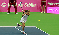 Aleksandra Krunic  Fed Cup Serbia vs Canada, World group II, first round, Novi Sad, Serbia, SPENS Sports Center, Sunday, February 06, 2011. (photo: Srdjan Stevanovic)(credit image & photo: Pedja Milosavljevic / +381 64 1260 959 / thepedja@gmail.com )