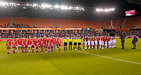 HOUSTON, TX - FEBRUARY 03: The starting lineups of the Nations USA and Costa Rica during a game between Costa Rica and USWNT at BBVA Stadium on February 03, 2020 in Houston, Texas.