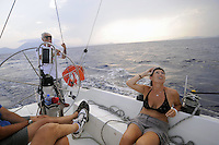 - sailing boat in navigation....- barca a vela in navigazione