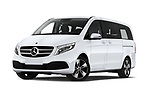 Stock pictures of low aggressive front three quarter view of a 2020 Mercedes Benz V-class Avantgarde 5 Door Mini Van