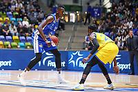 Isaac Bonga (Fraport Skyliners) gegen Bazoumana Kone (Basketball Löwen Braunschweig) - 11.10.2017: Fraport Skyliners vs. Basketball Löwen Braunschweig, Fraport Arena Frankfurt