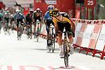 Primoz Roglic (SLO) Jumbo-Visma outsprints Enric Mas (ESP) Movistar Team to win Stage 11 of La Vuelta d'Espana 2021, running 133.6km from Antequera to Valdepeñas de Jaén, Spain. 25th August 2021.     <br /> Picture: Luis Angel Gomez/Photogomezsport | Cyclefile<br /> <br /> All photos usage must carry mandatory copyright credit (© Cyclefile | Luis Angel Gomez/Photogomezsport)
