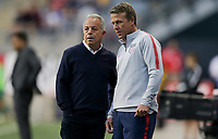 Chester, PA - Monday May 28, 2018: Dave Sarachan, John Hackworth during an international friendly match between the men's national teams of the United States (USA) and Bolivia (BOL) at Talen Energy Stadium.