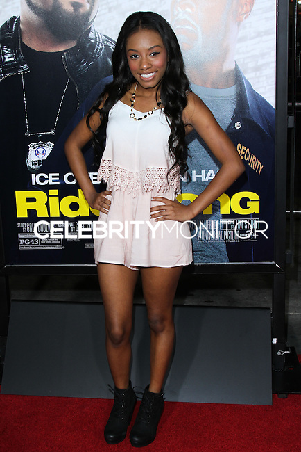 """HOLLYWOOD, CA - JANUARY 13: Imani Hakim at the Los Angeles Premiere Of Universal Pictures' """"Ride Along"""" held at the TCL Chinese Theatre on January 13, 2014 in Hollywood, California. (Photo by David Acosta/Celebrity Monitor)"""