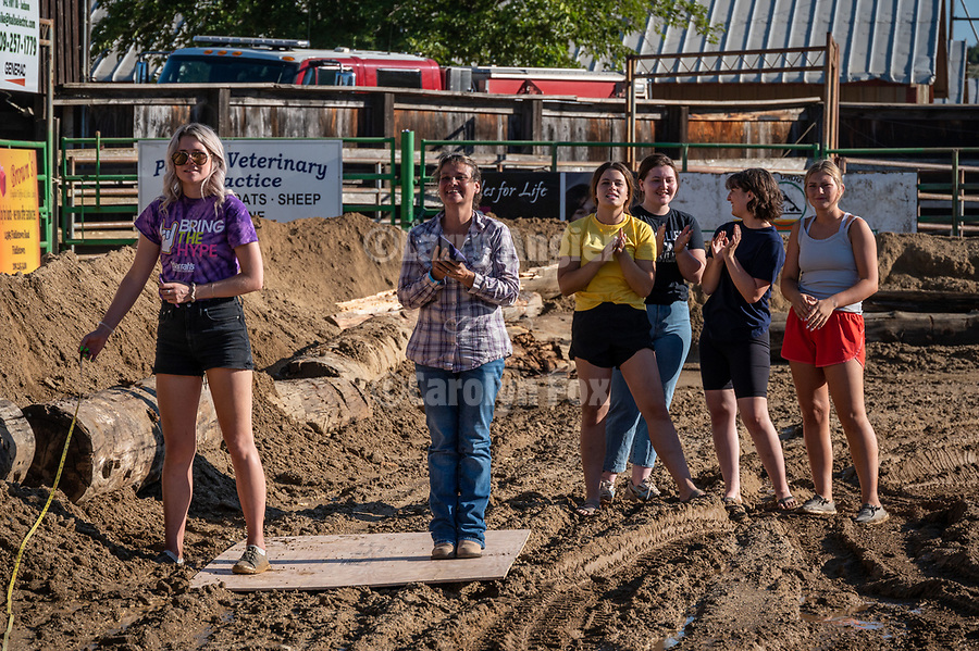 Dorothy Oneto of Jackson goes for broke with a 50-foot toss….only to come up short. at the $50,000 Corn Hole Challenge, sponsored by Harrah's Northern California. <br /> <br /> Sunday of the 82nd annual Amador County Fair, Plymouth, California, with Destruction Derby, Music and more!<br /> .<br /> .<br /> .<br /> @AmadorCountyFair, #1SmallCountyFair, #VisitAmador, #PlymouthCalifornia, #AmadorCountyFair, #Best4DaysOfSummer, #AmadorCounty, #26thDAA