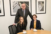 Gateley plc's Beth Mather (left) and Victoria Elliott pictured with Mark Rutherford