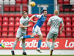 St Johnstone v Hartlepool…22.07.17… McDiarmid Park… Pre-Season Friendly<br />Steven MacLean gets the ball ahead of Scott Harrison<br />Picture by Graeme Hart.<br />Copyright Perthshire Picture Agency<br />Tel: 01738 623350  Mobile: 07990 594431