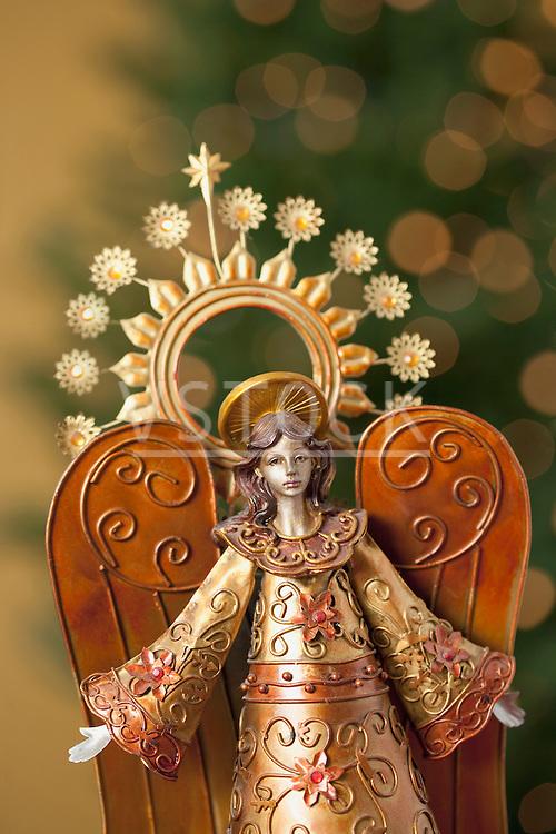 USA, California, La Quinta, Christmas angel figurine