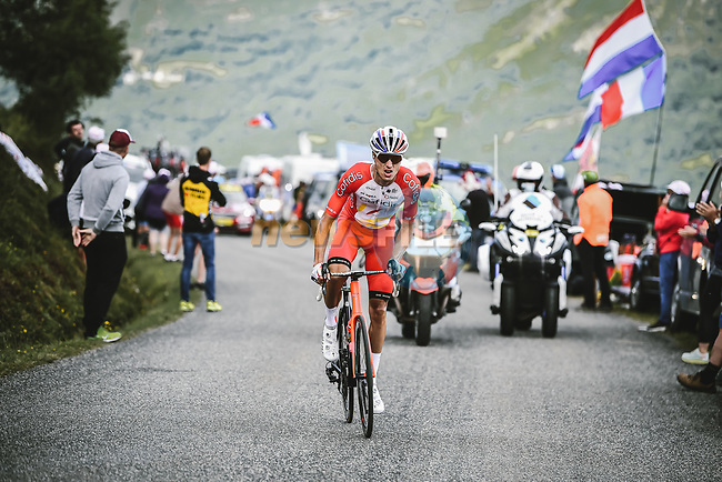 Anthony Perez (FRA) Cofidis from the breakaway during Stage 17 of the 2021 Tour de France, running 178.4km from Muret to Saint-Lary-Soulan Col du Portet, France. 14th July 2021.  <br /> Picture: A.S.O./Pauline Ballet | Cyclefile<br /> <br /> All photos usage must carry mandatory copyright credit (© Cyclefile | A.S.O./Pauline Ballet)