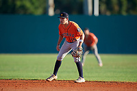 Dorian Gonzalez (18) during the WWBA World Championship at Lee County Player Development Complex on October 9, 2020 in Fort Myers, Florida.  Dorian Gonzalez, a resident of Miami, Florida who attends Belen Jesuit Preparatory School, is committed to Miami.  (Mike Janes/Four Seam Images)