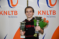 March 8, 2015, Netherlands, Rotterdam, TC Victoria, NOJK, Winner boys 12 years Daniel Bernard<br /> Photo: Tennisimages/Henk Koster