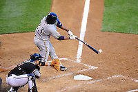 May 8, 2010; Phoenix, AZ, USA; Milwaukee Brewers second baseman Rickie Weeks against the Arizona Diamondbacks at Chase Field. Mandatory Credit: Mark J. Rebilas-