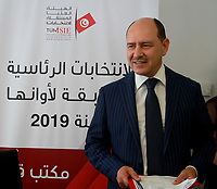 Lotfi mrayhi dépose son dossier de candidature à la présidentielle à l'ISIE<br /> <br /> PHOTO : Agence Quebec Presse - jdidi wassim