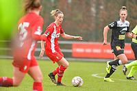 Charlotte Cranshoff (18) of Standard pictured during a female soccer game between Standard Femina de Liege and Eendracht Aalst on the 12 th matchday of the 2020 - 2021 season of Belgian Scooore Womens Super League , saturday 30 th of January 2021 in Angleur , Belgium . PHOTO SPORTPIX.BE   SPP   STIJN AUDOOREN