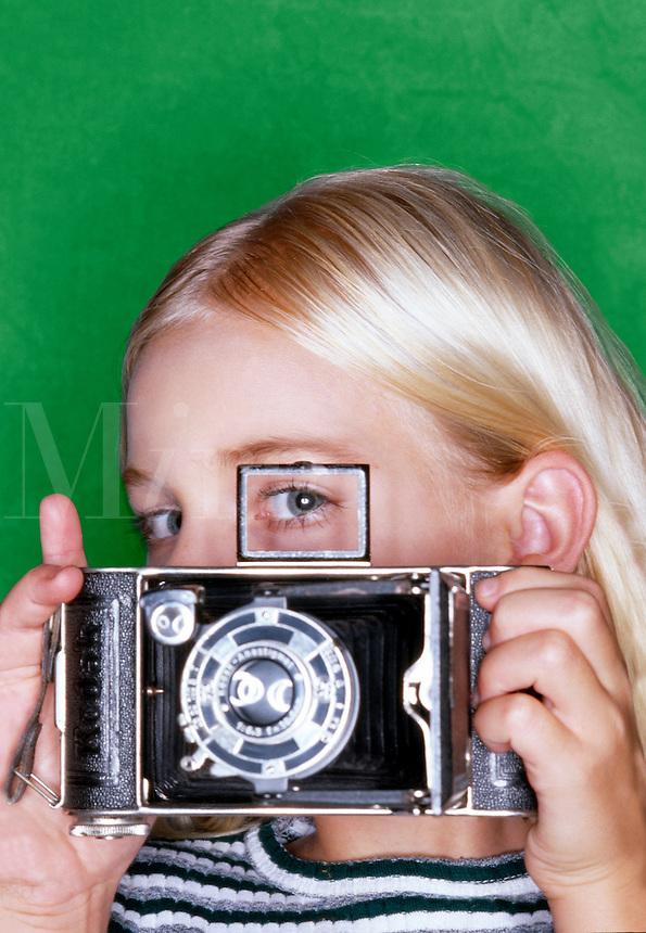 Younf female photographer.