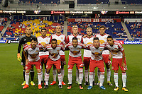 Harrison, NJ - Thursday Sept. 15, 2016: New York Red Bulls Starting Eleven prior to a CONCACAF Champions League match between the New York Red Bulls and Alianza FC at Red Bull Arena.