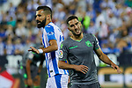 Leganes' Dimitrios Siovas and Real Sociedad's Joseba Zaldua during La Liga match. August 24, 2018. (ALTERPHOTOS/A. Perez Meca)