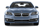 Car photography straight front view of a 2015 BMW SERIES 5 ActiveHybrid 5 Luxury 4 Door Sedan Front View