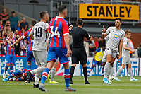 Marko Grujić of Hertha Berlin protests his innocence during the pre season friendly match between Crystal Palace and Hertha BSC at Selhurst Park, London, England on 3 August 2019. Photo by Carlton Myrie / PRiME Media Images.