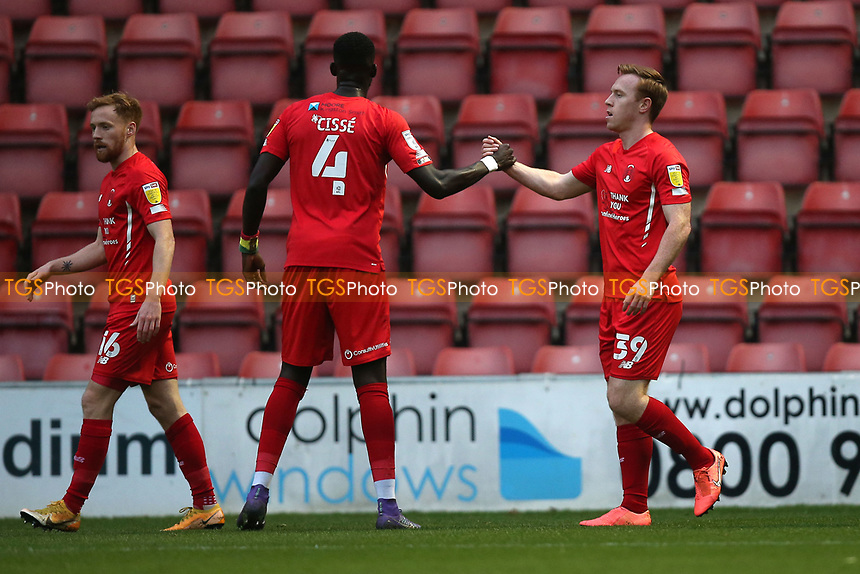 Danny Johnson of Leyton Orient scores the first goal for his team and celebrates during Leyton Orient vs Harrogate Town, Sky Bet EFL League 2 Football at The Breyer Group Stadium on 21st November 2020