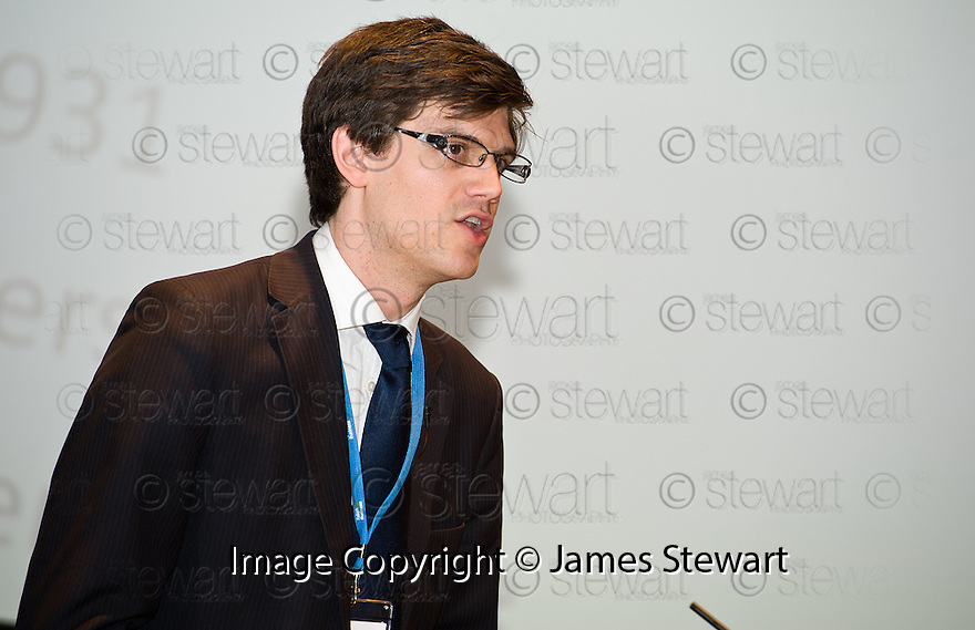 James Alexander, SCDI, at the Falkirk Business Panel Update Event 2012, Falkirk Town Hall...