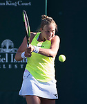 April 7,2017:   Shelby Rogers (USA) loses to Mirjana Lucic-Baroni (CRO) 6-7, 6-1, 6-1, at the Volvo Car Open being played at Family Circle Tennis Center in Charleston, South Carolina.  ©Leslie Billman/Tennisclix/Cal Sport Media