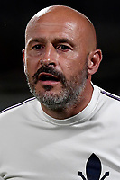 Vincenzo Italiano coach of ACF Fiorentina reacts during the warm up prior to the Italy cup football match between ACF Fiorentina and Cosenza calcio at Artemio Franchi stadium in Florence (Italy), August 13th, 2021. ACF Fiorentina won 4-0 over Cosenza calcio. Photo Andrea Staccioli / Insidefoto