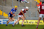 Sean Sheehan, Causeway, in action against Nathan O'Driscoll, St. Brendans, during the County Senior hurling Semi-Final between St. Brendans and Causeway at Austin Stack park on Sunday.