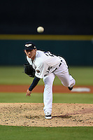Lakeland Flying Tigers pitcher Joe Rogers (26) delivers a pitch during a game against the Tampa Yankees on April 9, 2015 at Joker Marchant Stadium in Lakeland, Florida.  Tampa defeated Lakeland 2-0.  (Mike Janes/Four Seam Images)