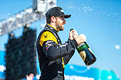 2017 Verizon IndyCar Series<br /> Toyota Grand Prix of Long Beach<br /> Streets of Long Beach, CA USA<br /> Sunday 9 April 2017<br /> James Hinchcliffe celebrates with champagne<br /> World Copyright: Gavin Baker/LAT Images