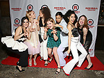 Isabelle Fuhrman, AnnaSophia Robb, Lily Santiago, Sophie Kelly-Hedrick, Ayana Workman, Sharlene Cruz and Ismenia Mendes attends the Opening Night Party for Red Bull Theater's All-Female MAC BETH at Houston Hall on May 19, 2019 in New York City.