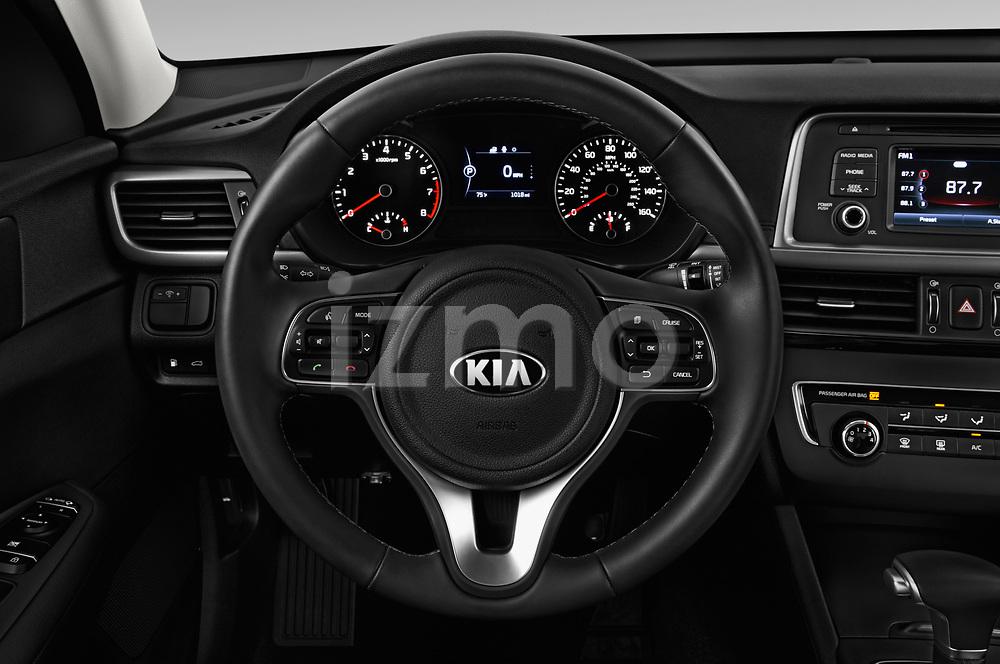 Car pictures of steering wheel view of a 2016 KIA Optima LX Turbo 4 Door Sedan