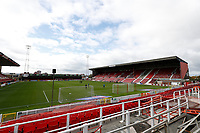 10th October 2020; The County Ground, Swindon, Wiltshire, England; English Football League One; Swindon Town versus AFC Wimbledon; General view of inside the County Ground as AFC Wimbledon goalkeepers warm up