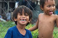 Children in the Slum area of Manila from the Car Window, Philippines