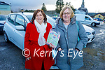 Noreen Reidy (Cordal) and Mary Brown (Knocknagoshel) at the Christmas Cracker Drive-in Bingo in Castleisland on Sunday.