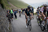 in the final kilometers up the final climb of the day; the Col du Portet (HC/2215m)<br /> <br /> Stage 17 from Muret to Saint-Lary-Soulan (Col du Portet)(178km)<br /> 108th Tour de France 2021 (2.UWT)<br /> <br /> ©kramon