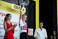 Toms Skujins (LVA/Trek Segafredo) on the podium as most combative rider of the stage. <br /> <br /> Stage 5: Saint-Dié-des-Vosges to Colmar (175km)<br /> 106th Tour de France 2019 (2.UWT)<br /> <br /> ©kramon