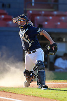 Pittsburgh Panthers Rick Devereaux #34 during a game vs. the Central Michigan Chippewas at Chain of Lakes Park in Winter Haven, Florida;  March 11, 2011.  Pittsburgh defeated Central Michigan 19-2.  Photo By Mike Janes/Four Seam Images