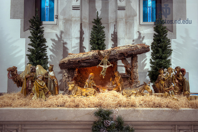December 15, 2011; Nativity in the Alumni Hall Chapel. Photo by Barbara Johnston/University of Notre Dame