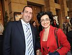 MENACH GANTZ CON MARINA VALENSISE<br /> CELEBRAZIONE DEI 60 ANNI DELLO STATO D'ISRAELE TEATRO DELL'OPERA ROMA 2008