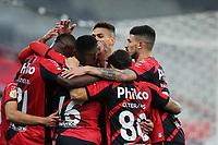 3rd July 2021; Arena da Baixada, Curitiba, Brazil; Brazilian Serie A, Athletico Paranaense versus Fortaleza; Matheus Babi of Athletico Paranaense celebrates his goal in the 9th minute 2-0