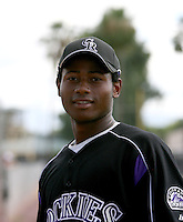 Orlando Sandoval / Colorado Rockies 2008 Instructional League..Photo by:  Bill Mitchell/Four Seam Images
