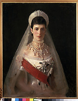 Portrait of Empress Maria Feodorovna, Princess Dagmar of Denmark (1847-1928)<br /> Artist:Kramskoi, Ivan Nikolayevich(1837-1887)<br /> Museum:State Russian Museum, St. Petersburg<br /> Method:Oil on canvas<br /> Created:1882<br /> School:Russia<br /> Category:Portrait<br /> Tsar's Family. House of Romanov<br /> Trend in art:Russian Painting of 19th cen.