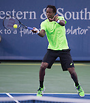 Gael Monfils (FRA) loses to Roger Federer (SUI) 6-4, 4-6, 6-3 at the Western & Southern Open in Mason, OH on August 14, 2014.