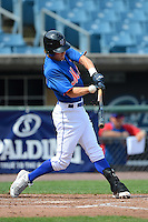 Shortstop Kyle Watson (19) of DeSoto Central High School in Southaven, Mississippi playing for the New York Mets scout team during the East Coast Pro Showcase on July 31, 2013 at NBT Bank Stadium in Syracuse, New York.  (Mike Janes/Four Seam Images)