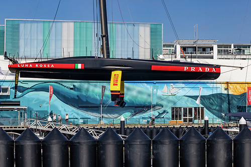 Ian O'Meara of Viking Marine with some Luna Rossa Prada Pirelli is prepared for the 36th America's Cup Match