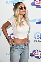 LONDON, UK. June 08, 2019: Rita Ora poses on the media line before performing at the Summertime Ball 2019 at Wembley Arena, London<br /> Picture: Steve Vas/Featureflash