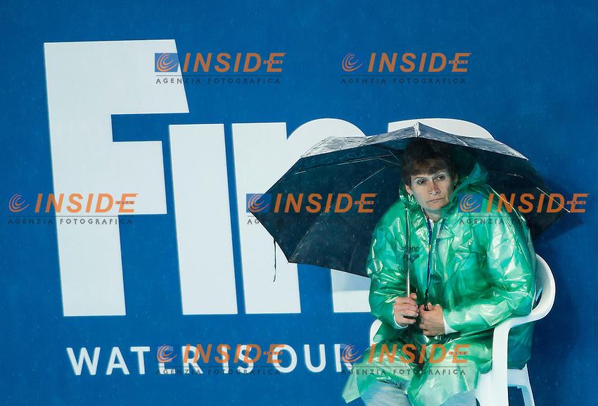 Volunteer<br /> Raining Day<br /> Preliminary Round II<br /> Waterpolo - Waterpolo Arena<br /> Day09 01/08/2015<br /> XVI FINA World Championships Aquatics Swimming<br /> Kazan Tatarstan RUS July 24 - Aug. 9 2015 <br /> Photo A.Masini/Deepbluemedia/Insidefoto